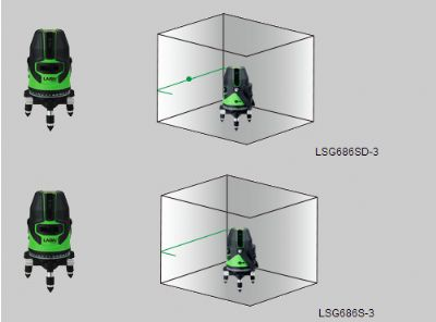 LSG686S绿激光标线仪(4V1H1D)&LSG686SD绿激光标线仪(4V1H3D)