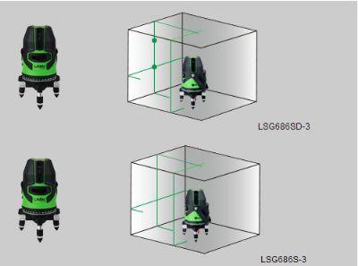 LSG686S-3绿激光标线仪(2V1H1D)&LSG686SD-3绿激光标线仪(2V1H3D)